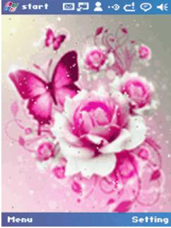 download Pink_Flower_Butterfly themes