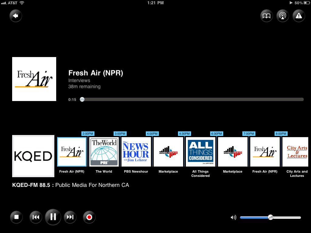 TuneinRadio ipad 2 app 2011