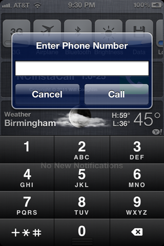 "Now Dial a Number Quickly Within The Notification Center By Using ""NCInstaCall"" For iPhone"