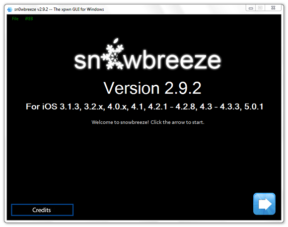 "Jailbreak iPhone 4/3GS, iPad 1 & iPod Touch by Using Latest ""Snowbreeze 2.9.2"" For Windows"